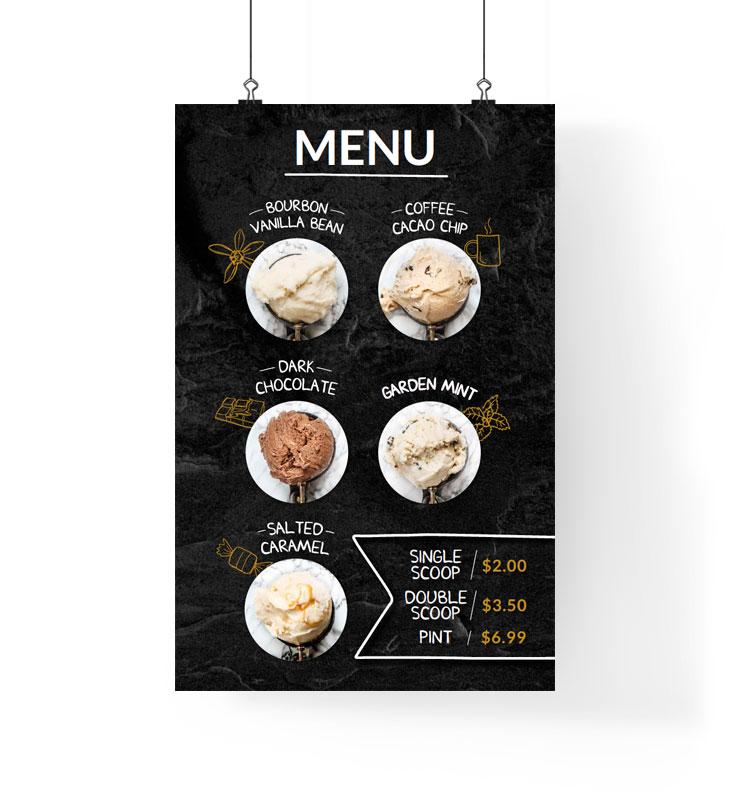 BillyGoat-Ice-Cream-Menu-Poster